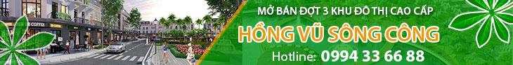 Khu đô thị Hồng Vũ Sông Công – Thái Nguyên